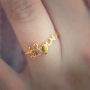 "Jewelry - 14k Gold plated ""Love"" Ring"